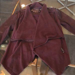 BlankNYC faux leather drape jacket